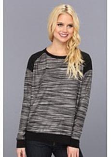 Three Dots Contrast Boxy Sweatshirt
