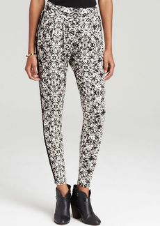 Three Dots Cropped Printed Easy Pant