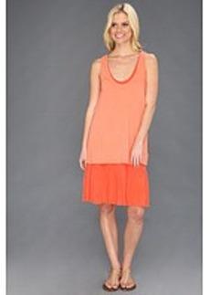 Three Dots Double Layer Dress W/Cascadin