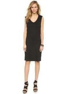 Three Dots Draped Back Sleeveless Dress