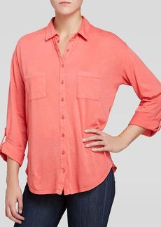 Three Dots Easy Fit Button Up Shirt