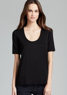 Three Dots Elbow Sleeve Relaxed High/Low Tee