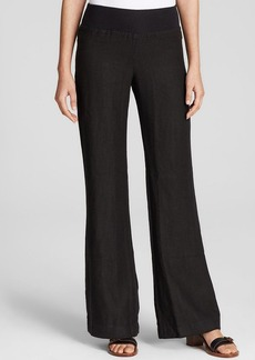 Three Dots Flared Linen Lounge Pants