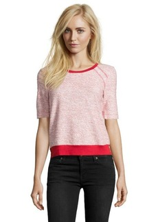 Three Dots haute red stretch knit scoop neck t-shirt