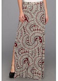Three Dots High Waist Maxi Skirt w/ Side Slits