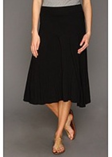 Three Dots Jersey Colette Double Layer Tea Length Skirt