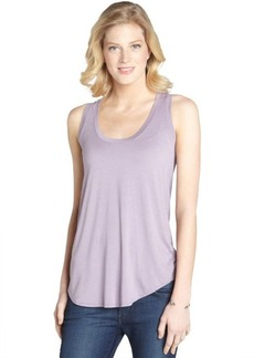Three Dots lavender dust stretch jersey tank