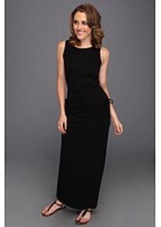 Three Dots Lightweight Viscose Tank Dress w/ Adjustable Skirt
