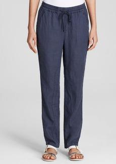Three Dots Linen Drawstring Pants