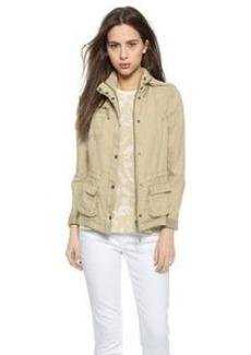 Three Dots Linen Utility Jacket