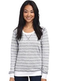 Three Dots L/S Stripe Sweatshirt