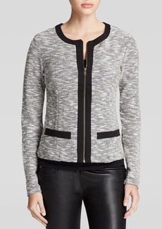 Three Dots Metallic Tweed Jacket