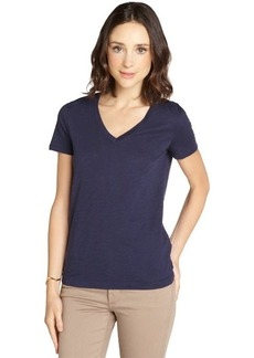 Three Dots night iris burn out cotton jersey v-neck t-shirt