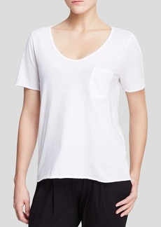 Three Dots Patch Pocket Tee