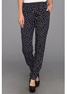 Three Dots Polka Dot Print Pant