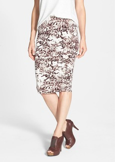 Three Dots Print Tube Skirt