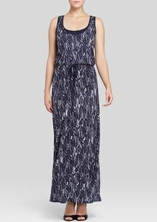 Three Dots Printed Maxi Dress