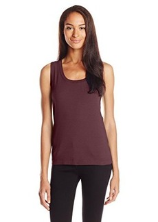 Three Dots Red Women's Classic Fit Tank Knit Basic