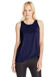 Three Dots Red Women's Sleeveless Swing Top