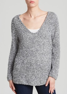 Three Dots Reversible V Neck Sweater
