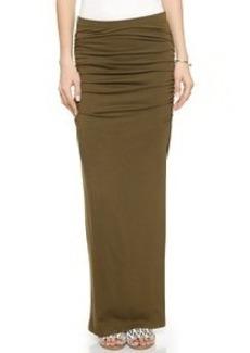 Three Dots Ruched Maxi Skirt