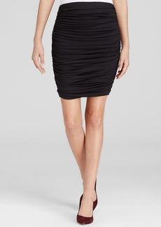 Three Dots Ruched Mini Skirt