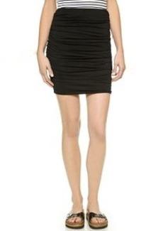 Three Dots Ruched Miniskirt