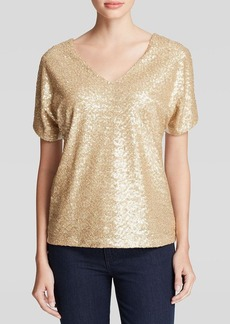 Three Dots Sequin Front Tee