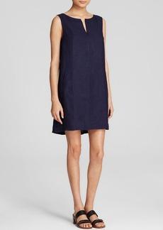 Three Dots Sleeveless Faux Pocket Dress