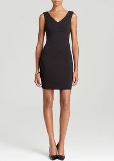 Three Dots Sleeveless V-Neck Ponte Dress