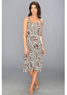 Three Dots Sleevless Scoop Neck Midi Dress