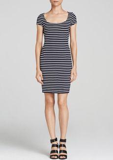 Three Dots Stripe Knit Dress