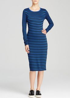 Three Dots Striped Midi Dress