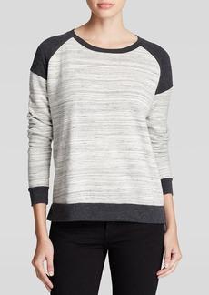 Three Dots Striped Raglan Pullover