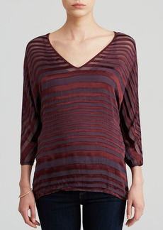 Three Dots Texture Stripe Top