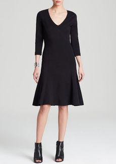 Three Dots V Neck Ponte Dress