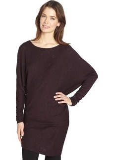 Three Dots wine country asymmetrical hem cotton blend tunic