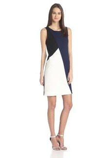 Three Dots Women's Color-Block Shift Dress