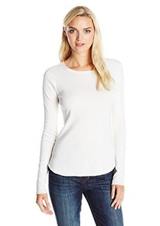 Three Dots Women's Extra Long Sleeve Crew Neck