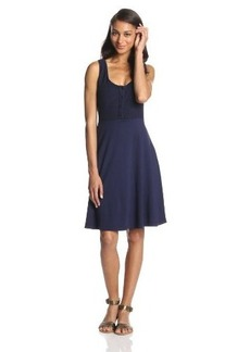 Three Dots Women's Henley Tank Dress
