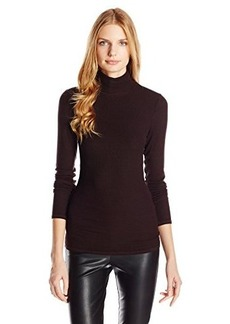 Three Dots Women's Long Sleeve Turtleneck Tee