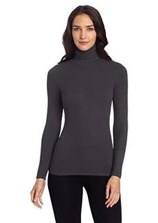 Three Dots Women's Long Sleeve Turtleneck Tee