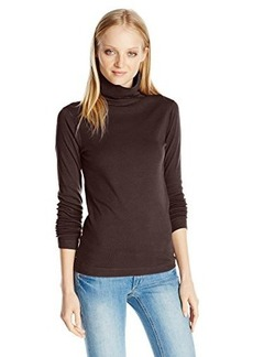 Three Dots Women's Long Sleeve Turtleneck Top