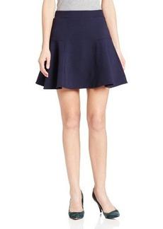 Three Dots Women's Mini Trumpet Fit and Flare Skirt