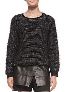 Fuzzy Tweed Sweatshirt   Fuzzy Tweed Sweatshirt