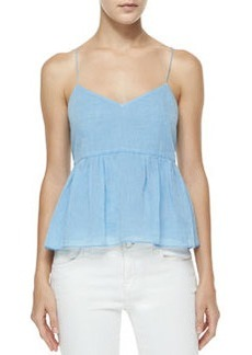 Tibi Summer Space Top, Koro Blue