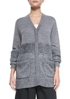 Textured V-Neck Sweater   Textured V-Neck Sweater