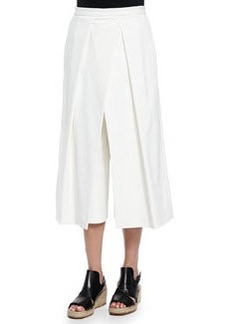 Tibi Agathe Pleated Cropped Culotte Pants