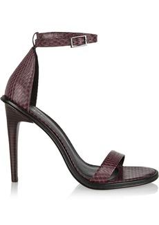 Tibi Amber snake-effect leather sandals
