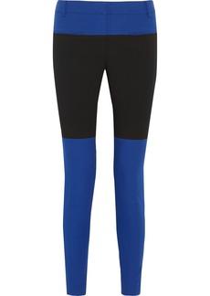 Tibi Anson color-block piqué skinny pants